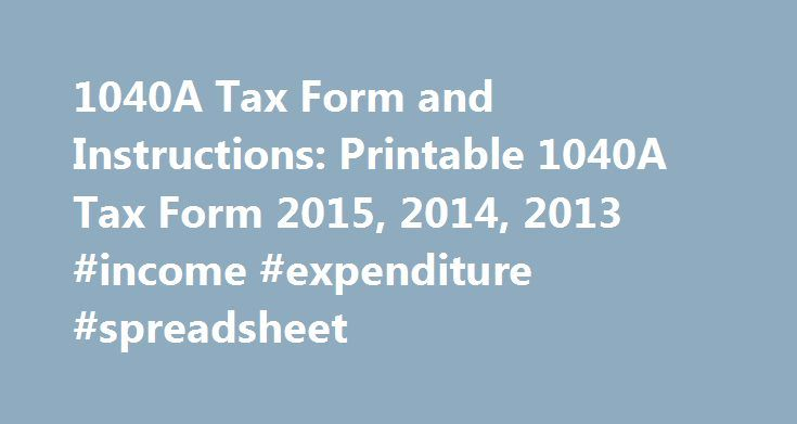 A Tax Form And Instructions Printable A Tax Form