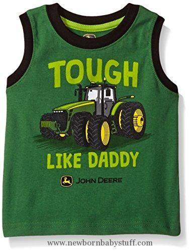 df33588e Baby Boy Clothes John Deere Baby Toddler Boys' Graphic Tee, Green/Black, 2T