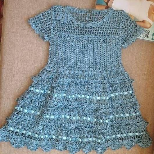 Vestido De Crochê Infantil Modelos E Passo A Passo