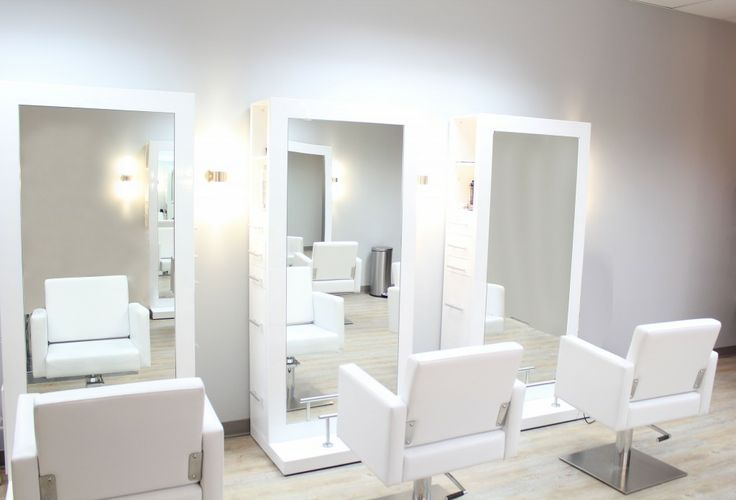 Modern salon stations contemporary hair stations clean for Modern salon stations
