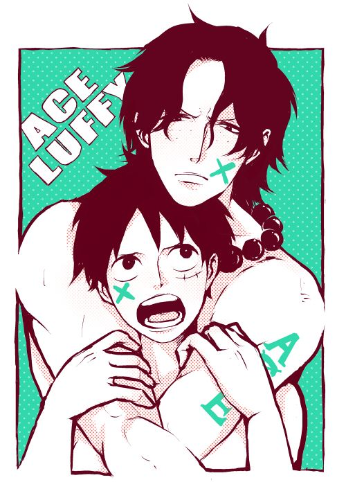 Portgas D. Ace and Monkey D. Luffy | One Piece | Pinterest ...