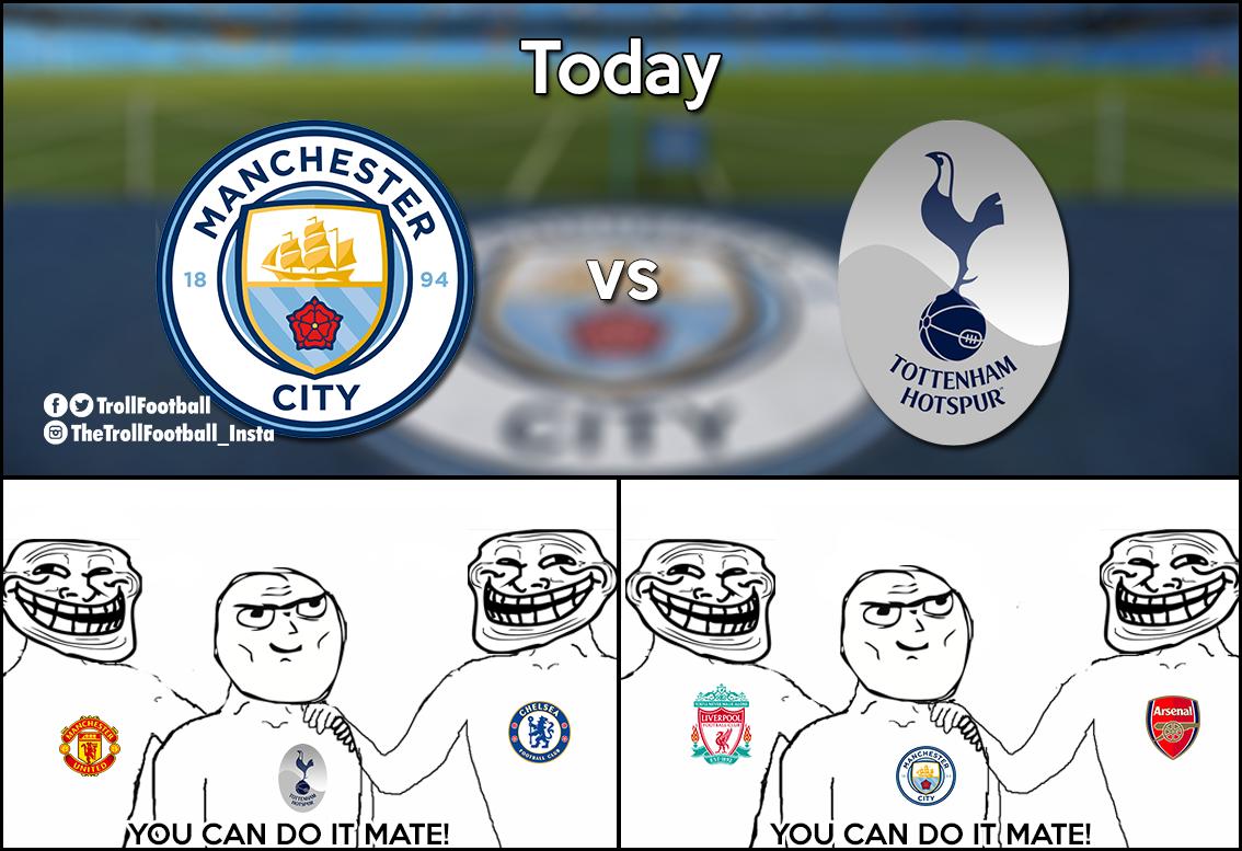 Man City Vs Spurs Football Jokes Football Memes Sports Memes