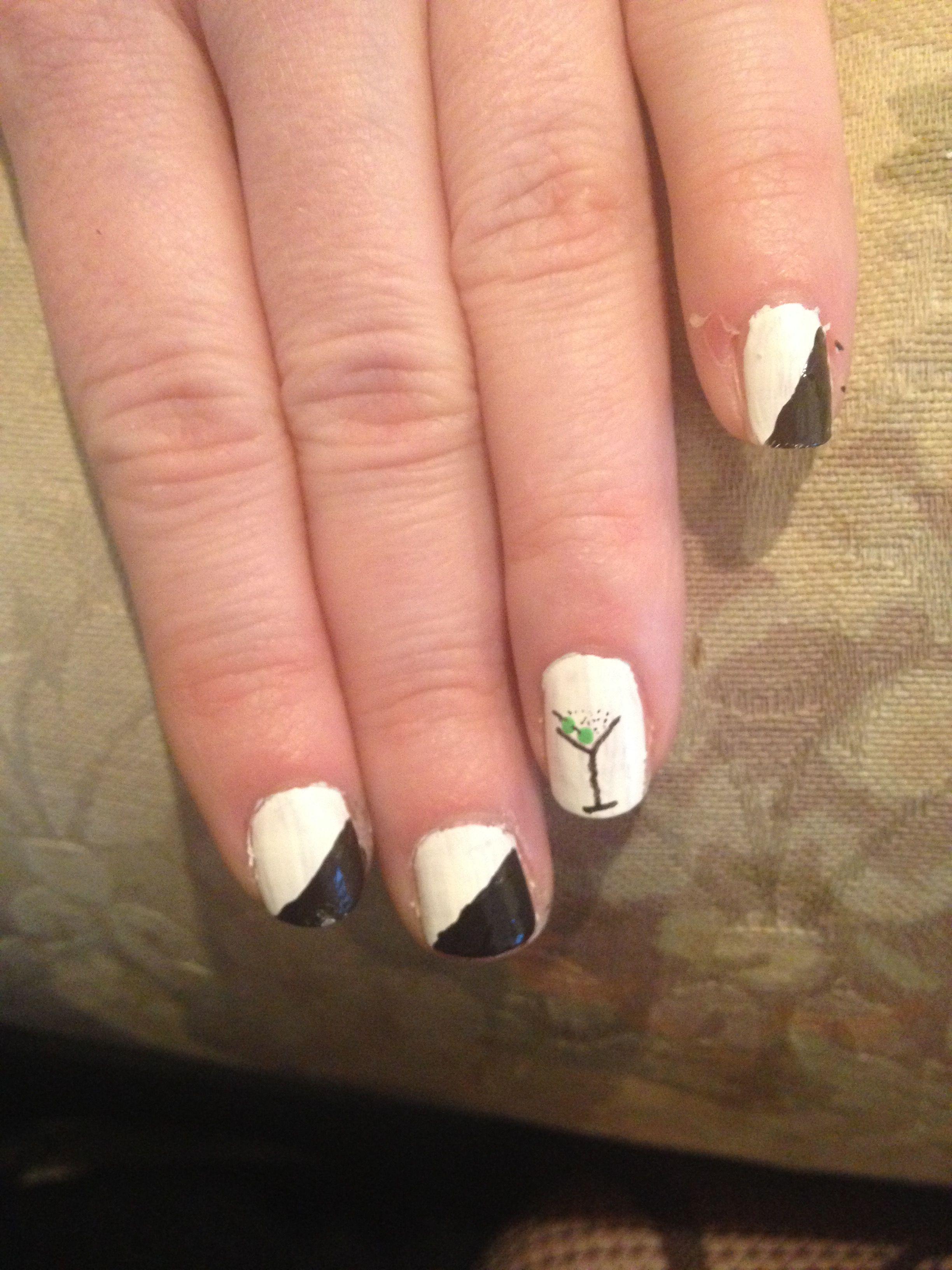 James Bond, cocktail, nail art   My short nails art!   Pinterest ...