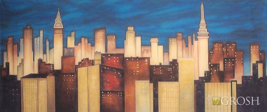 Stylized New York Skyline Nyc Backdrop Grosh New York Skyline Nyc Skyline Skyline