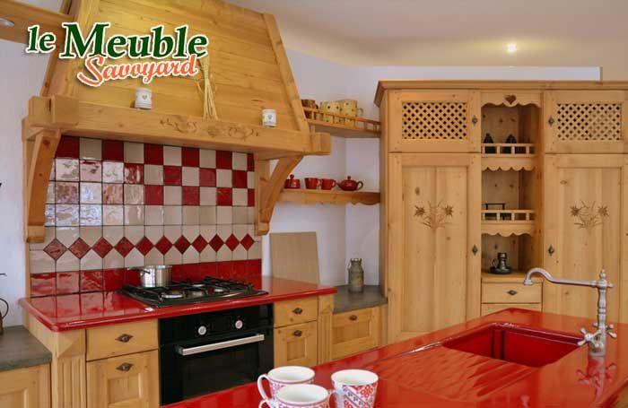 Cuisine Bois Style Montagne   meilleurs decorateurs