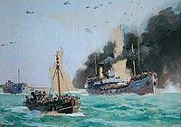 « L'opération Dynamo », œuvre d'Albert Brenet. Collection Musée portuaire de Dunkerque. (évacuation de Dunkerque du 26 mai au 4 juin 1940)
