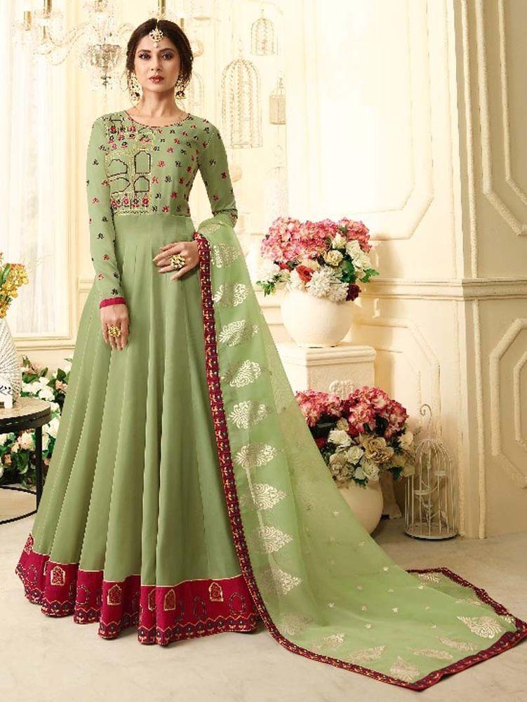 1366816e9f  Designer  Bollywood  Indian  Latest  Long  Anarkali  Party  Wear Dresses   Handmade  Anarkali