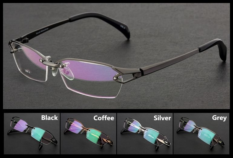 6ccc457f2c46 Aspherical Optical Lenses Glasses Men Brand Design Titanium Frames EXIA  OPTICAL KD-40 Series