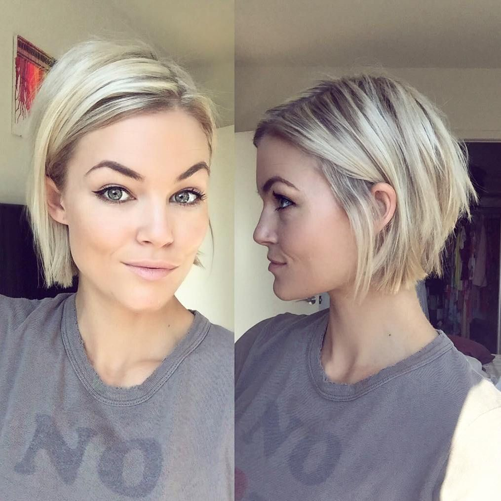 100 mind-blowing short hairstyles for fine hair | chin length bob
