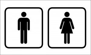 Bathroom Signs Male And Female, Men And Women Bathroom Sign