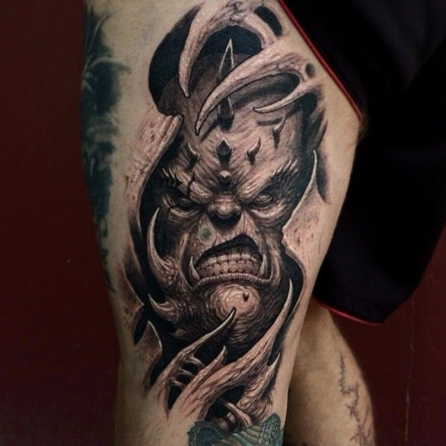 demon face tattoo - photo #41