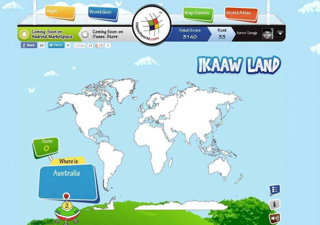 Learning geography was never this easy with the interactive learning geography was never this easy with the interactive ikaawland map quiz you can gumiabroncs Gallery