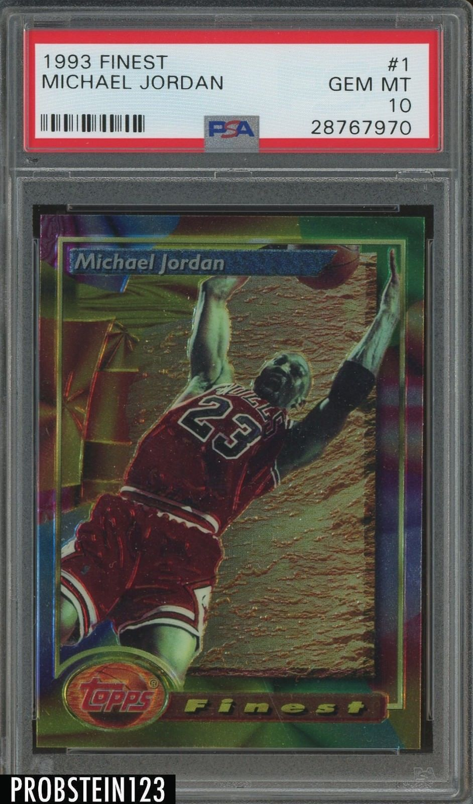 1993 finest 1 michael jordan chicago bulls psa 10 gem
