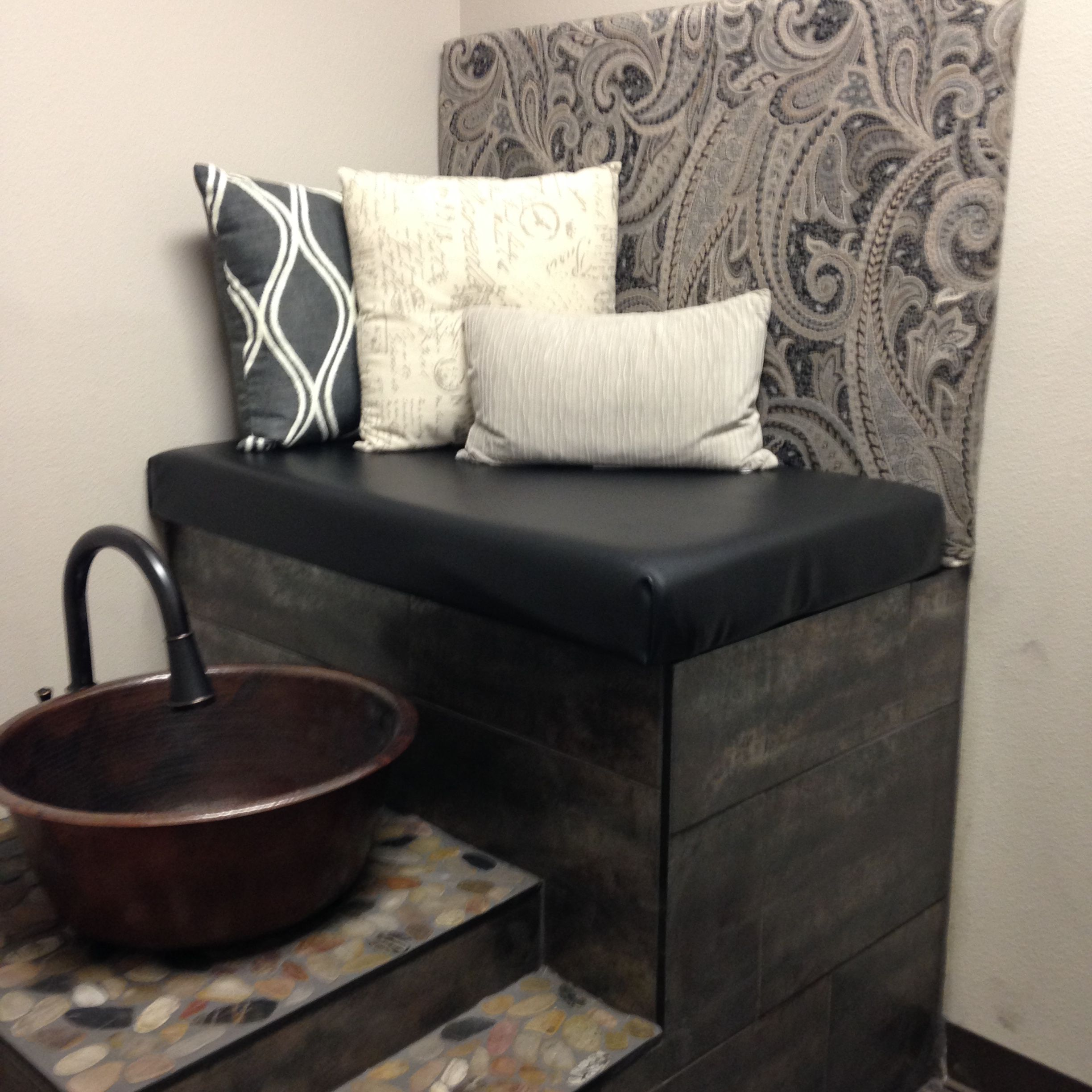 Our finished pedicure station at the salon ! Studio 6 Colorado Springs
