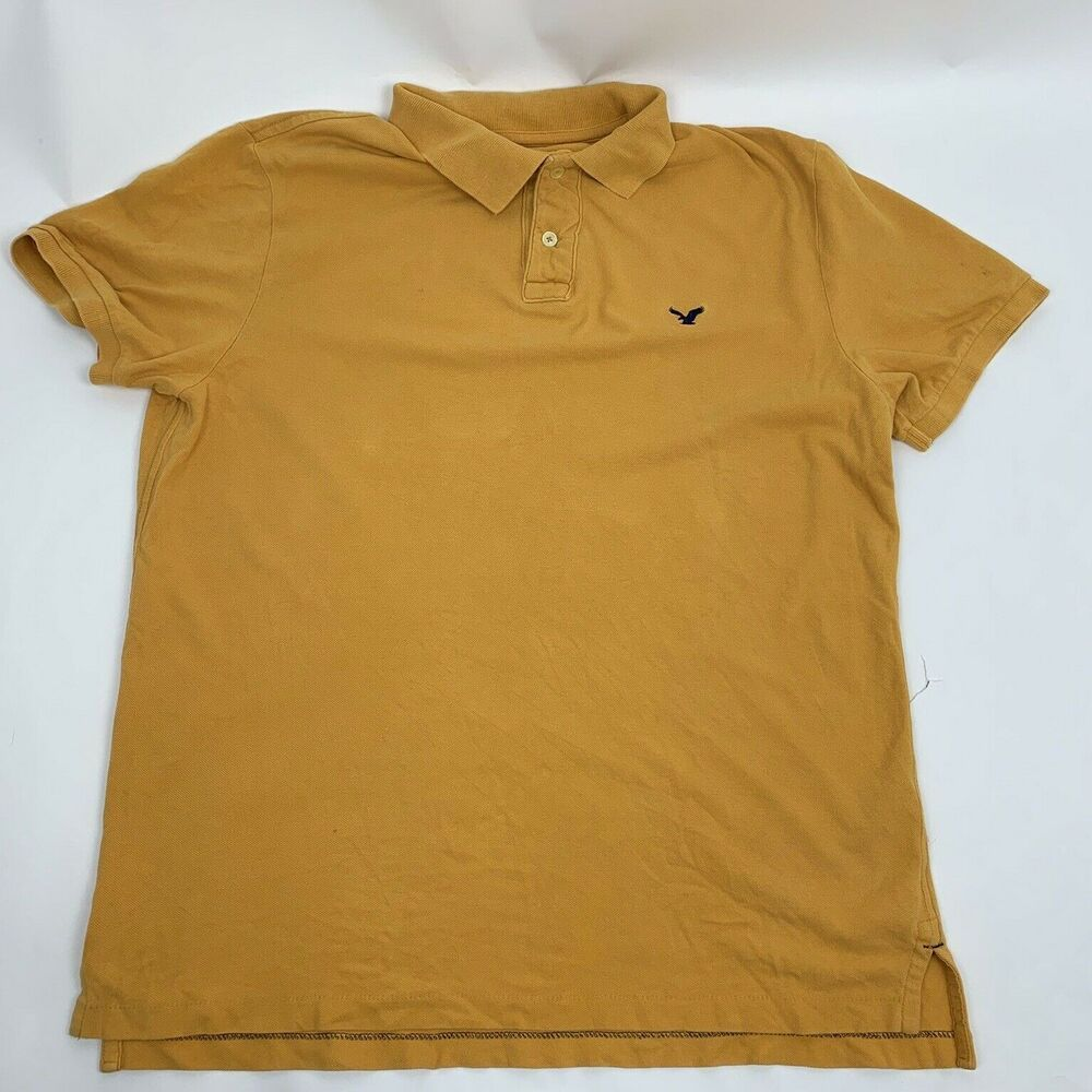 1a24b32b919c American Eagle Mens Polo Shirt Athletic Fit Size XL Mustard Yellow  #AmericanEagleOutfitters #BasicTee #Casual