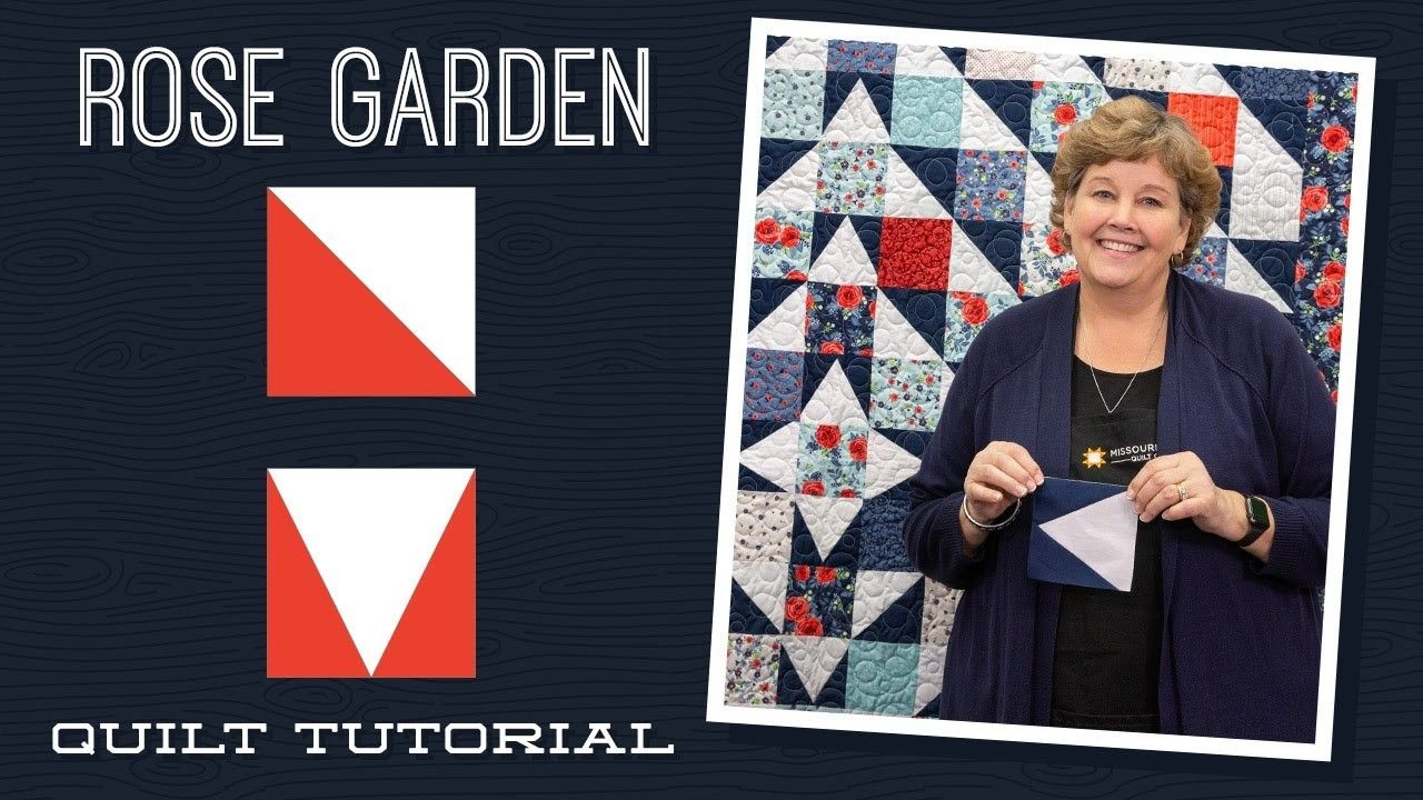 Jenny Doan Demonstrates How To Make A Beautiful Floral Half Squ Missouri Star Quilt Company Tutorials Missouri Star Quilt Company Missouri Star Quilt Tutorials