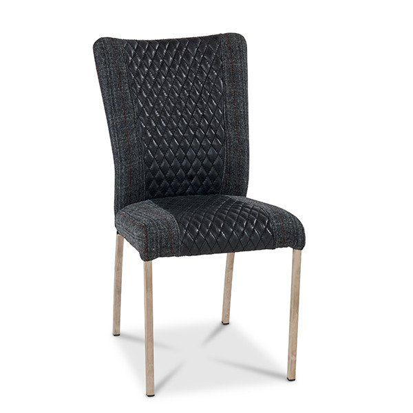 Alicia Black Upholstered Dining Chair (pair) | Black