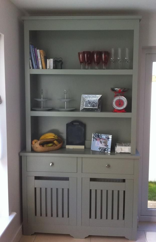 Custom Furniture Radiator Cover Bookcase In White Paint Storage