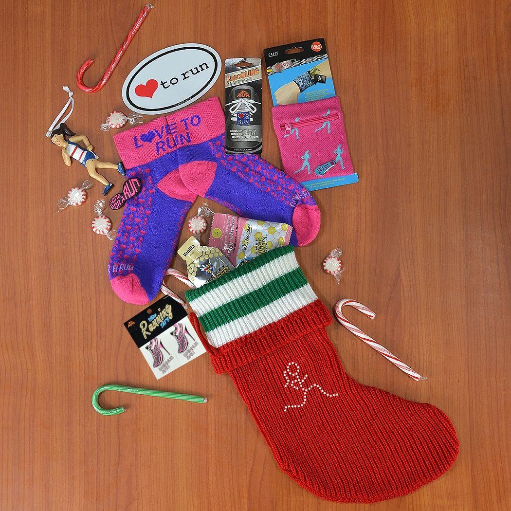 Runner Girl Christmas Stocking Christmas Holiday