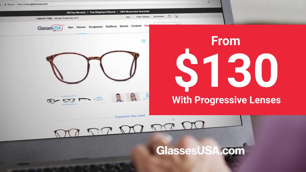 59eb201bd2 GlassesUSA.com You Need Glasses With Progressive Lenses Ad Commercial on TV  2018