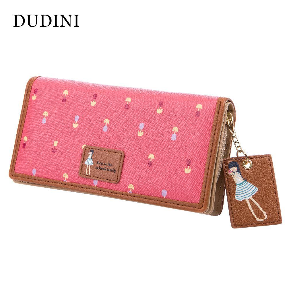 74fed4cb49e DUDINI New Fashion Cute Women Wallet PU Leather 6 Colors Printing ...
