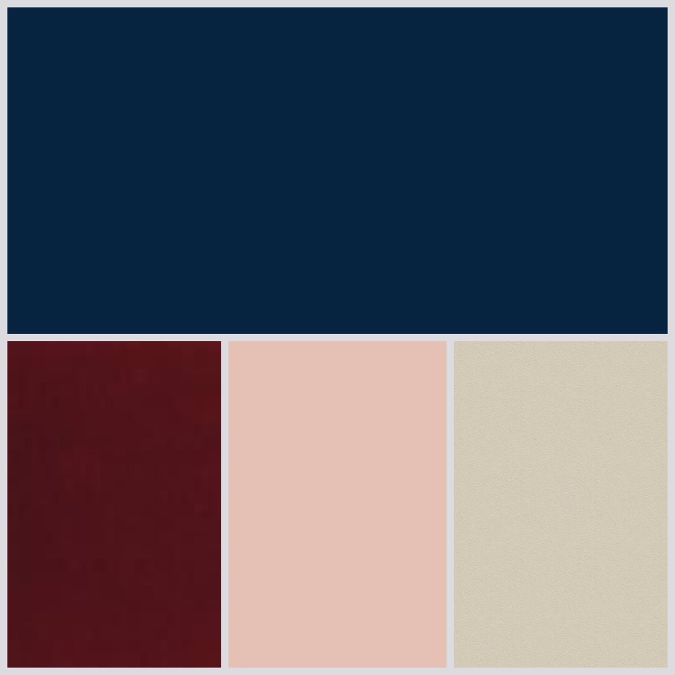 Navy wedding palette champagne burgundy blush pinteres for What goes with taupe