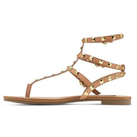 16af6b992bc Women s Betseyville Pyramid Stud Gladiator Sandals - Natural 9.5   Target  Studded Sandals