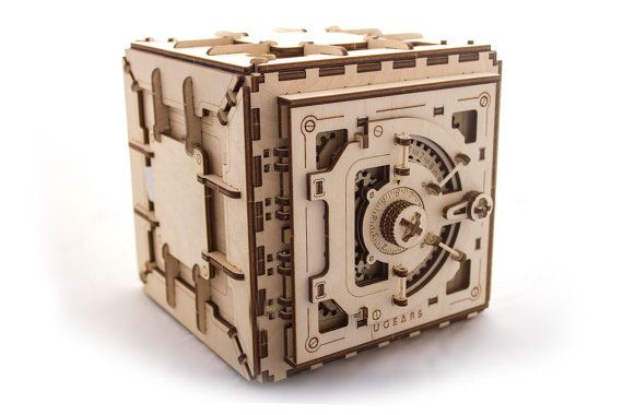 UGears DIY Safe mechanical wooden model KIT 3D puzzle Assembly