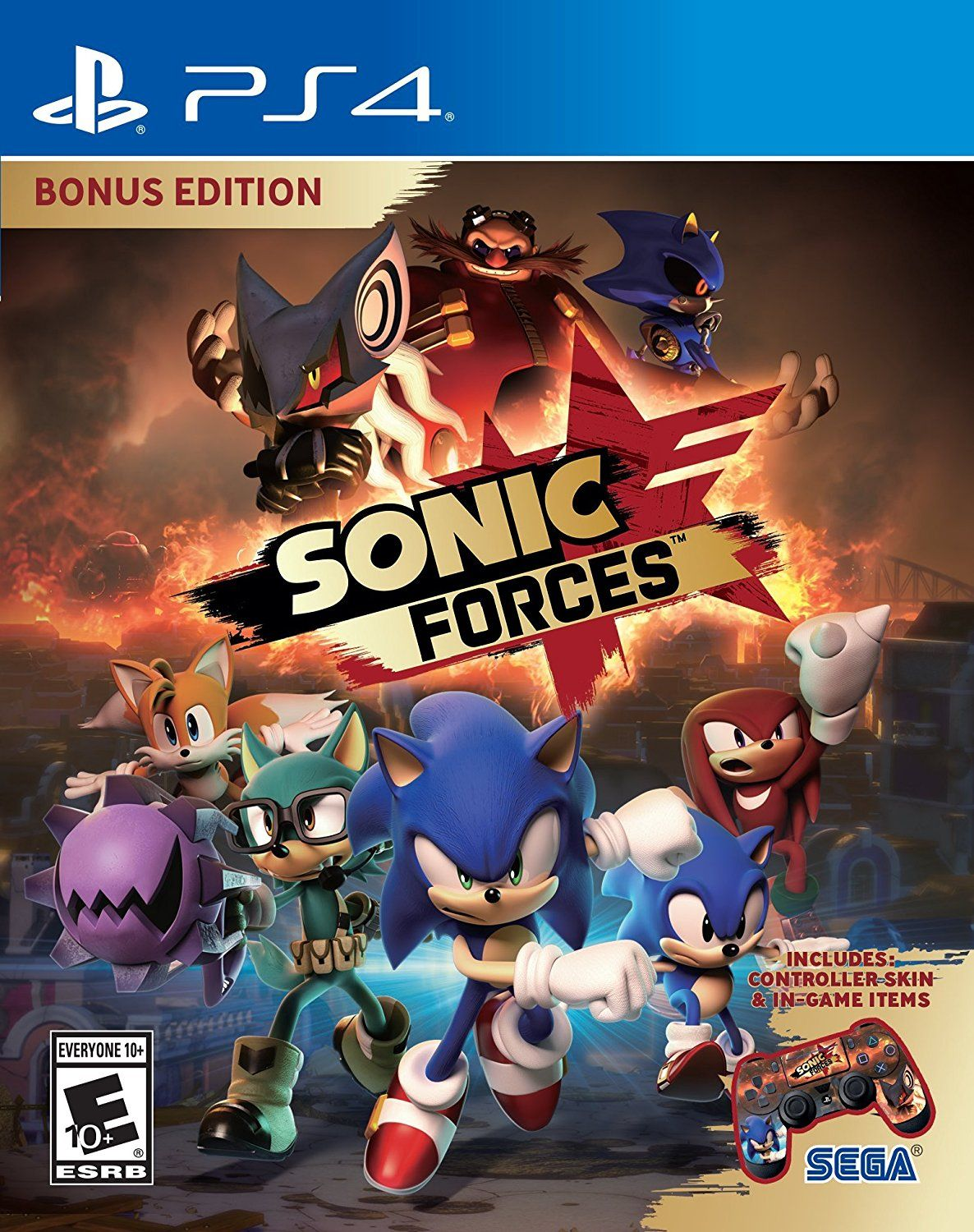 Sonic Forces Game Cover Ps4 Bonus Edition Video Games In 2018 Nba 2k18 Tip Off Reg 3