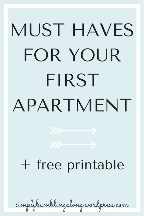 Must-Haves for Your First Apartment #firstapartment