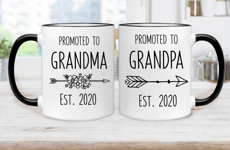 Gift for Mom Mother Grandma To Be New Grandmother Grandma Mug Est 2020 Baby Reveal Pregnancy Announcement Keepsake