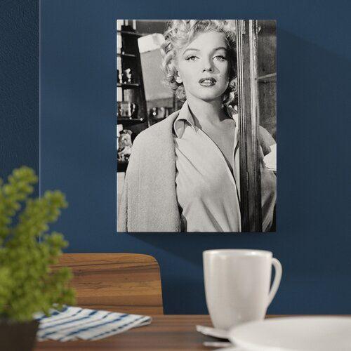 Photo of Canvas art Marylin Monroe, Memorabilia East Urban Home Size: 101 cm H x 76 cm W x 1.8 cm D