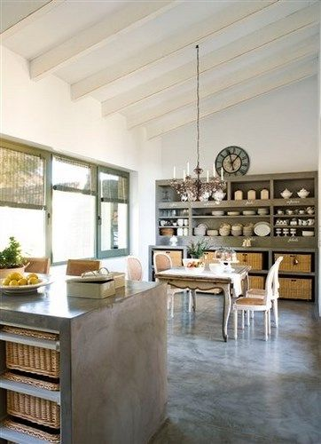 Mesada microcemento concrete floors pinterest for Mesadas de cocina pequenas