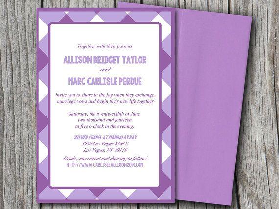 Wedding Invite Microsoft Word Template - Geometric Purple Picnic