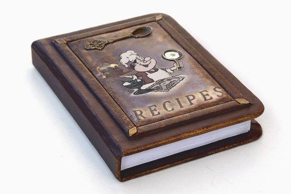 Leather Recipe Book Personalized Recipe Journal Recipe