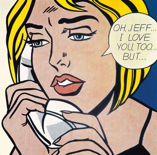 Oh Jeff I Love You Too But 1964 By Pop Art Fantagista Roy Lichtenstein It Would Have Been Great If He Spelt Geoff Amerikaanse Kunst Kunstwerk Kunstenaar