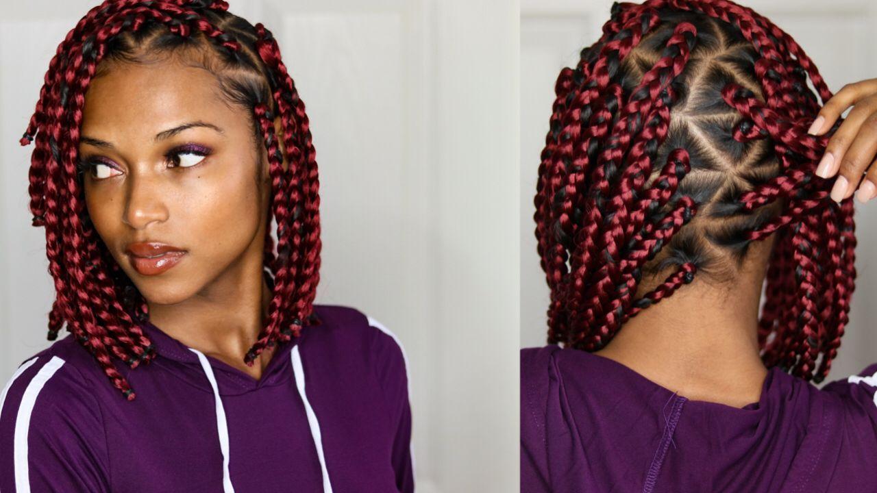 17++ Medium box braid parting pattern inspirations