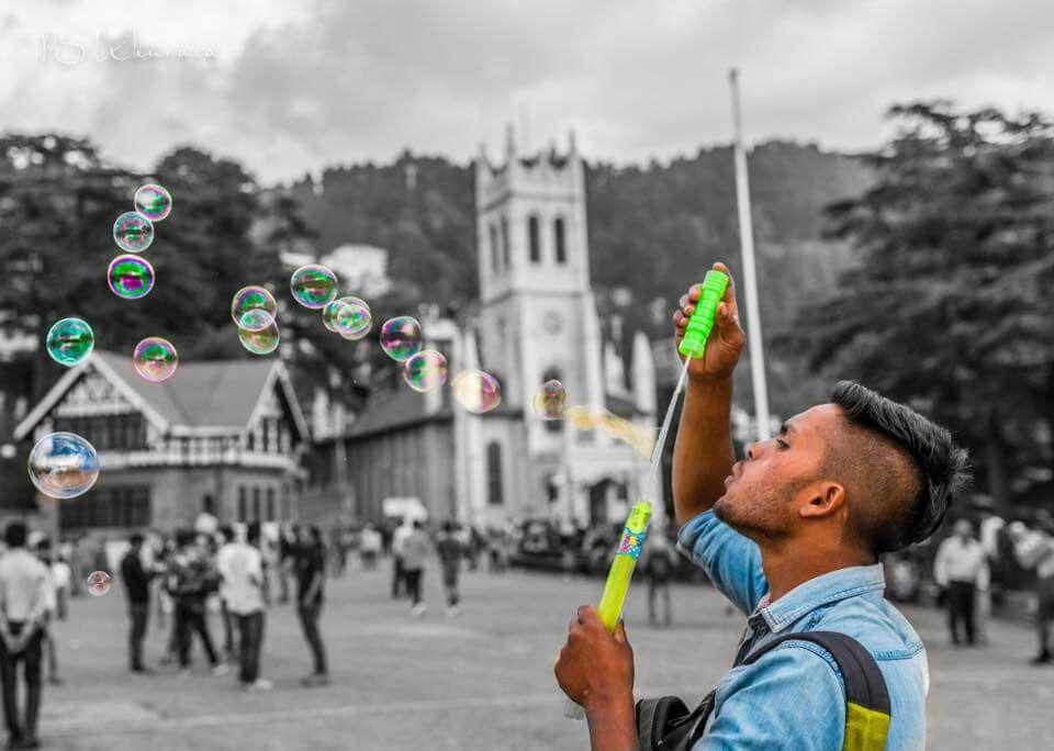 Good morning friends!  Always seek beauty to create a beautiful life.  Blowing bubbles in colour at The Ridge, Shimla, #HimachalPradesh, India! #ShimlaLife  © Paramjeet Singh Khurana