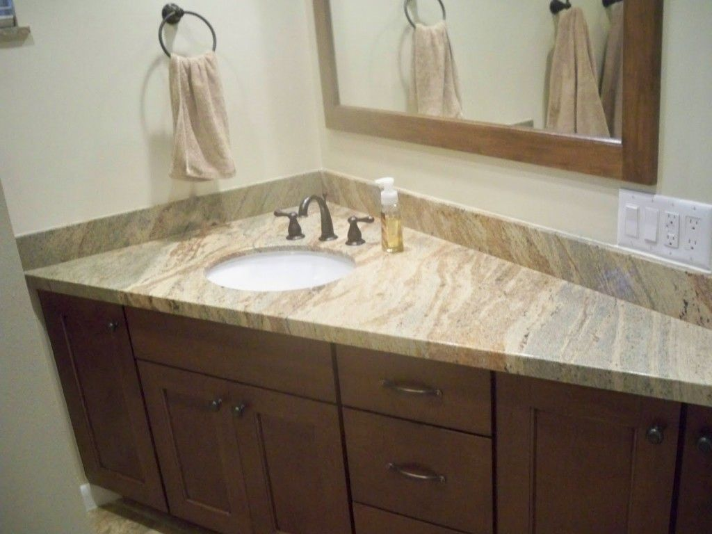 Bathroom: Fantastic Compact Corner Bathroom Sink Used Brushed Nickel ...