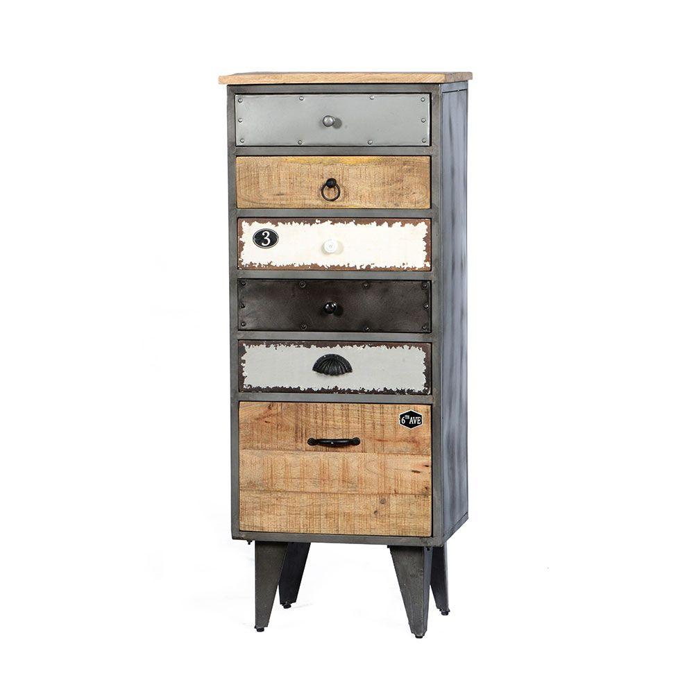 Design Kommode mit Schubladen Loft Style Jetzt bestellen unter ...