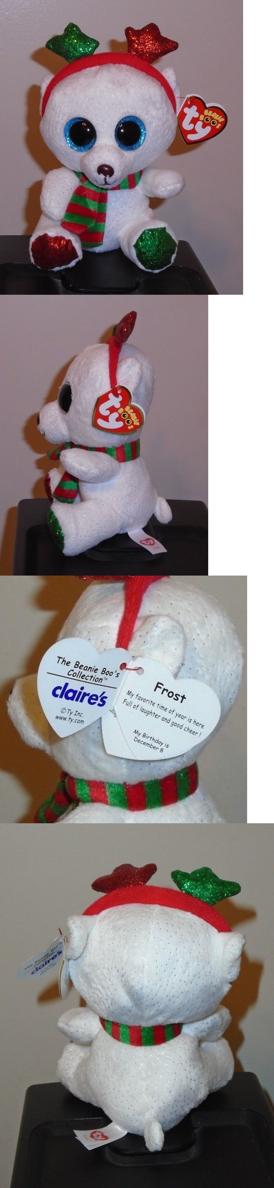 Beanbag Plush 49019  Ty Beanie Boos - Frost The Christmas Polar Bear 6 (2018  Exclusive) New Mwmt -  BUY IT NOW ONLY   14.9 on  eBay  beanbag  plush   beanie ... 022375f579ba