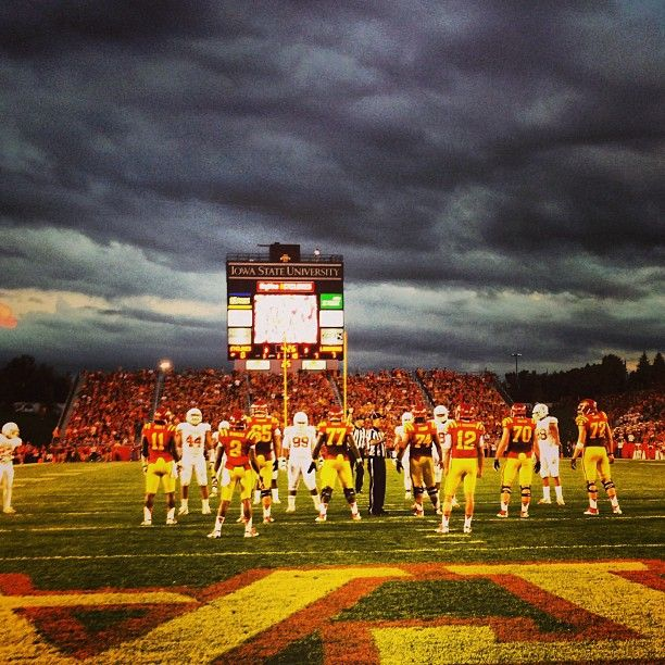 Night Sky During The Game Iowa State Athletics Iowa State Iowa State Cyclones