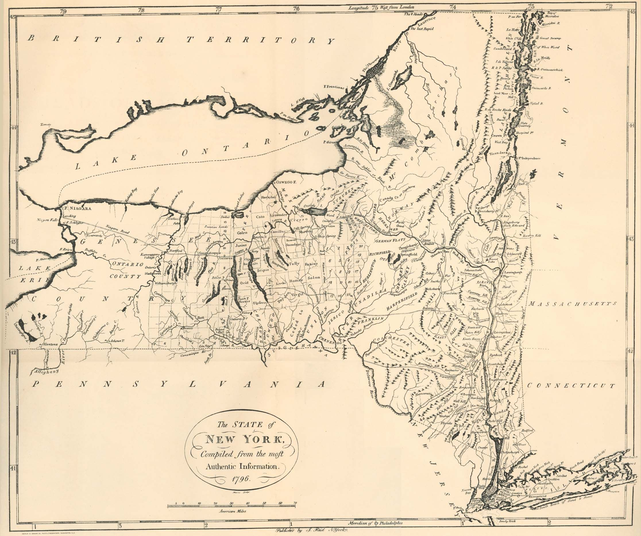 New York State 1796 | Home Sweet Home | New York, Map und Art prints