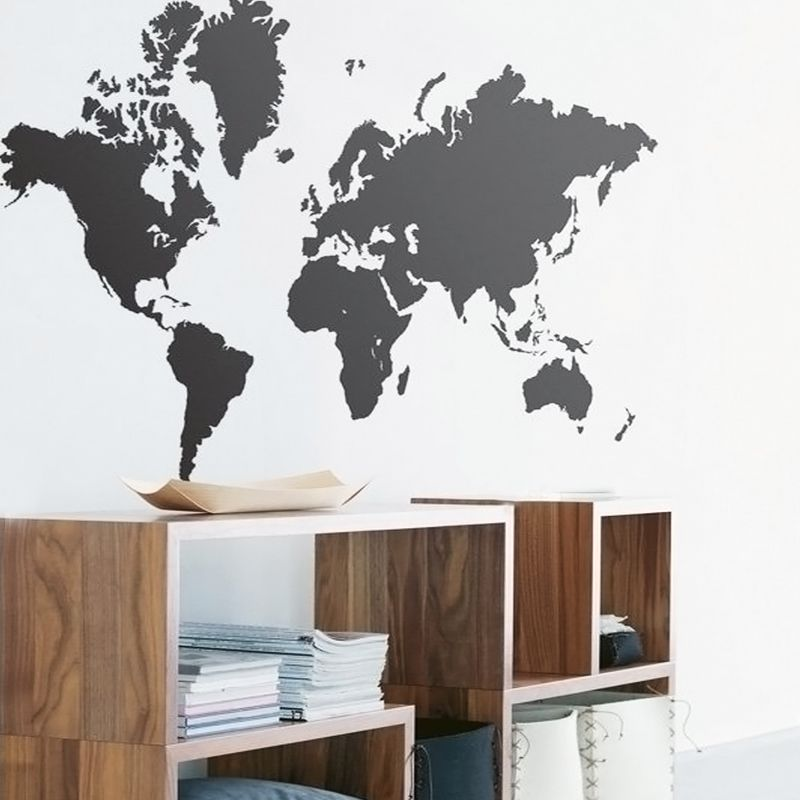 Aliexpress.com : Buy large 105*60cm black world map blackboard ...