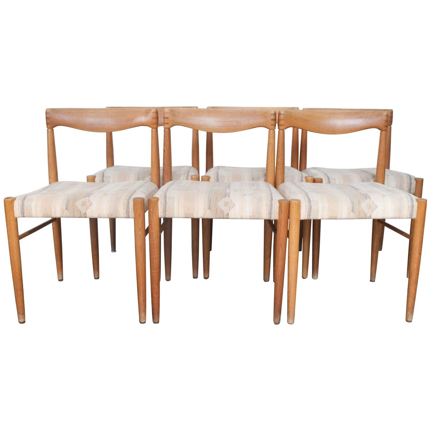 4b7372868cd0 Set of Six H.W. Klein Teak Dining Chairs for Bramin Mobler
