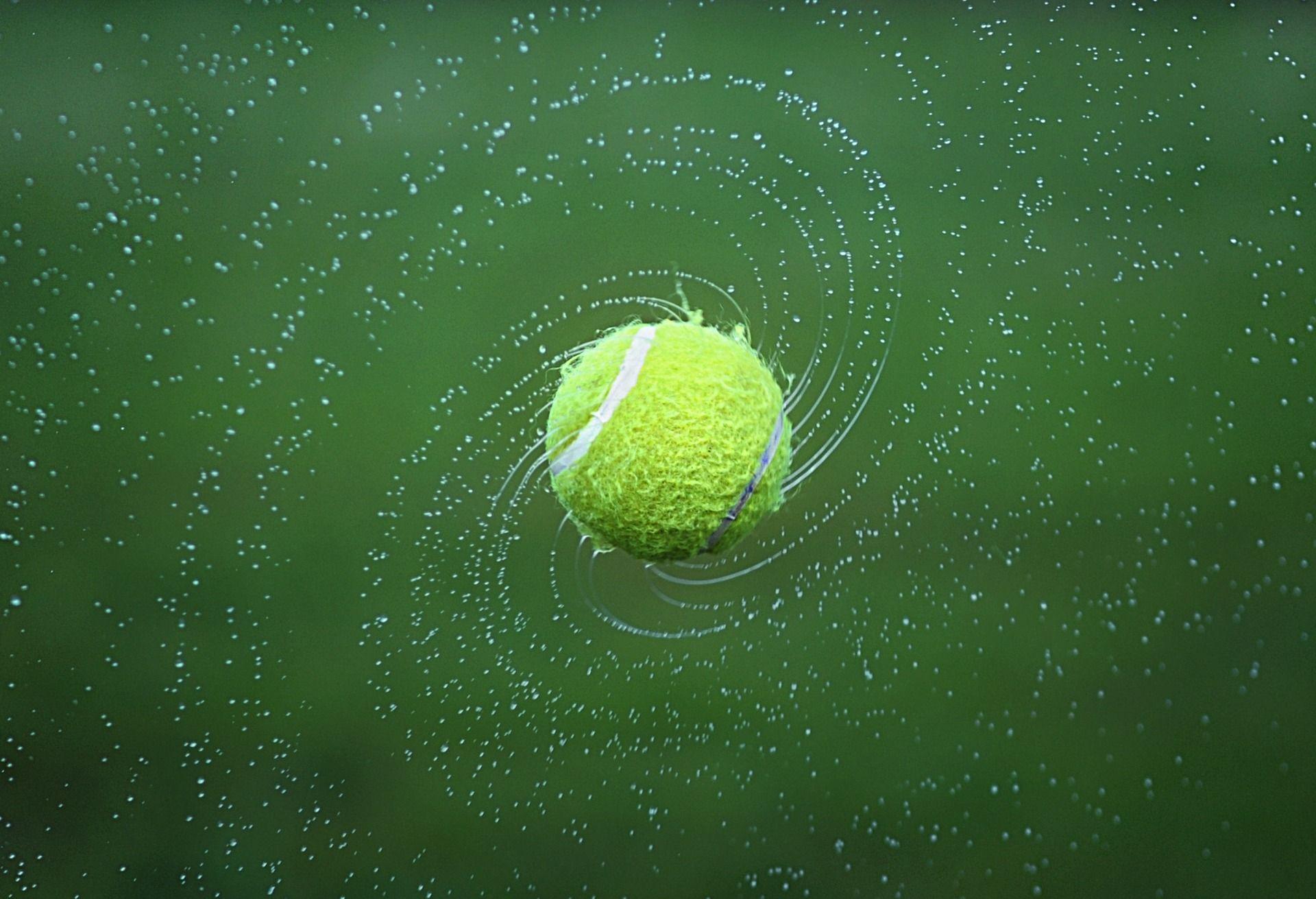pelota de tenis, bola, tenis, agua, giro, verde - Fondos de Pantalla - professor-falken.com