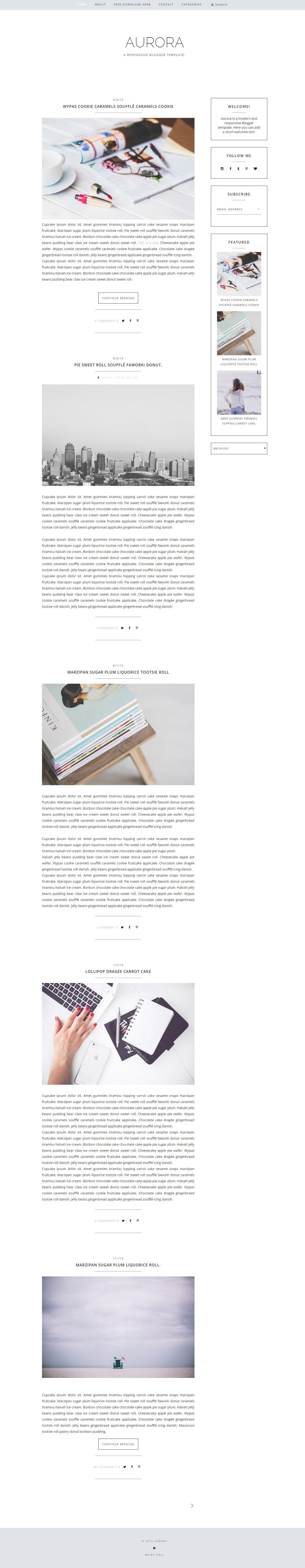 Free responsive Blogger template. Feminine blog design. Fashion blog ...