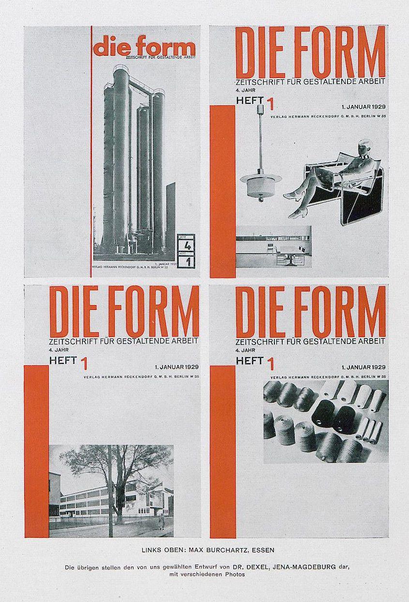 Design contest for the german magazine Form, 1928. Jan Tschichold ...