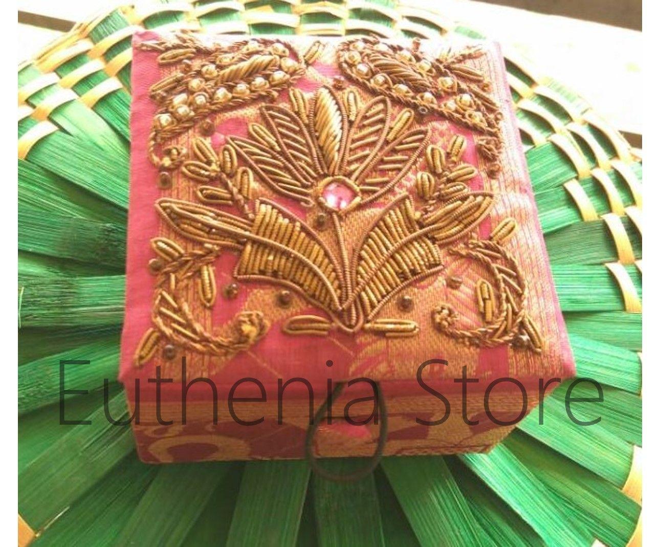 Heavy handcrafted zardosi gift box from Euthenia Store
