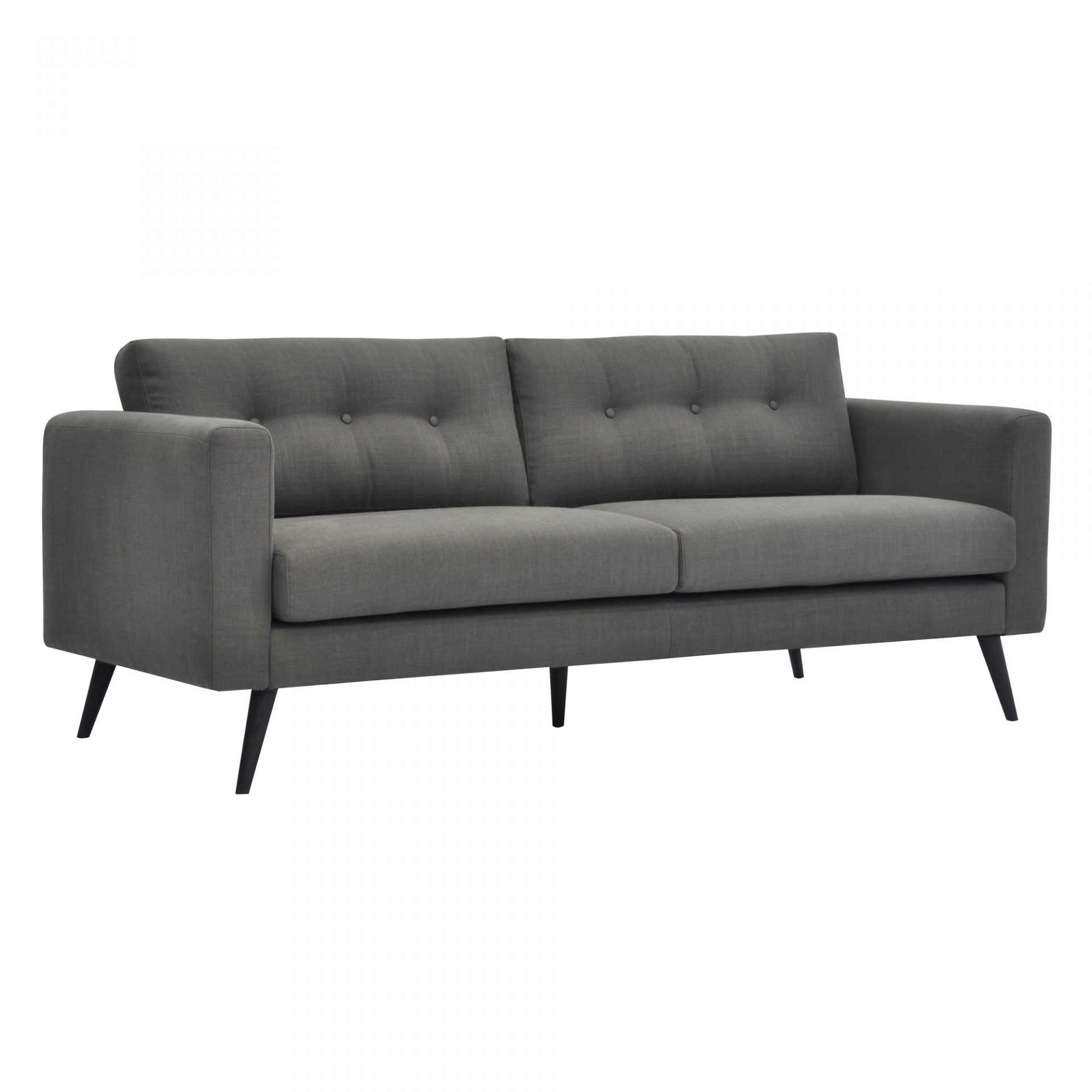 Clean lines and peg legs make this sofa a mid century dream but its updated design makes it perfect for a modern home as well